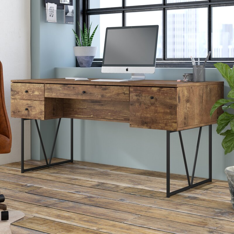 Wayfair | Trent Austin Design Granite 4 Drawer Writing Desk