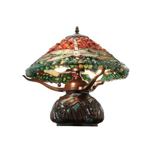 Dragonfly Polished Agata 16.5 Table Lamp
