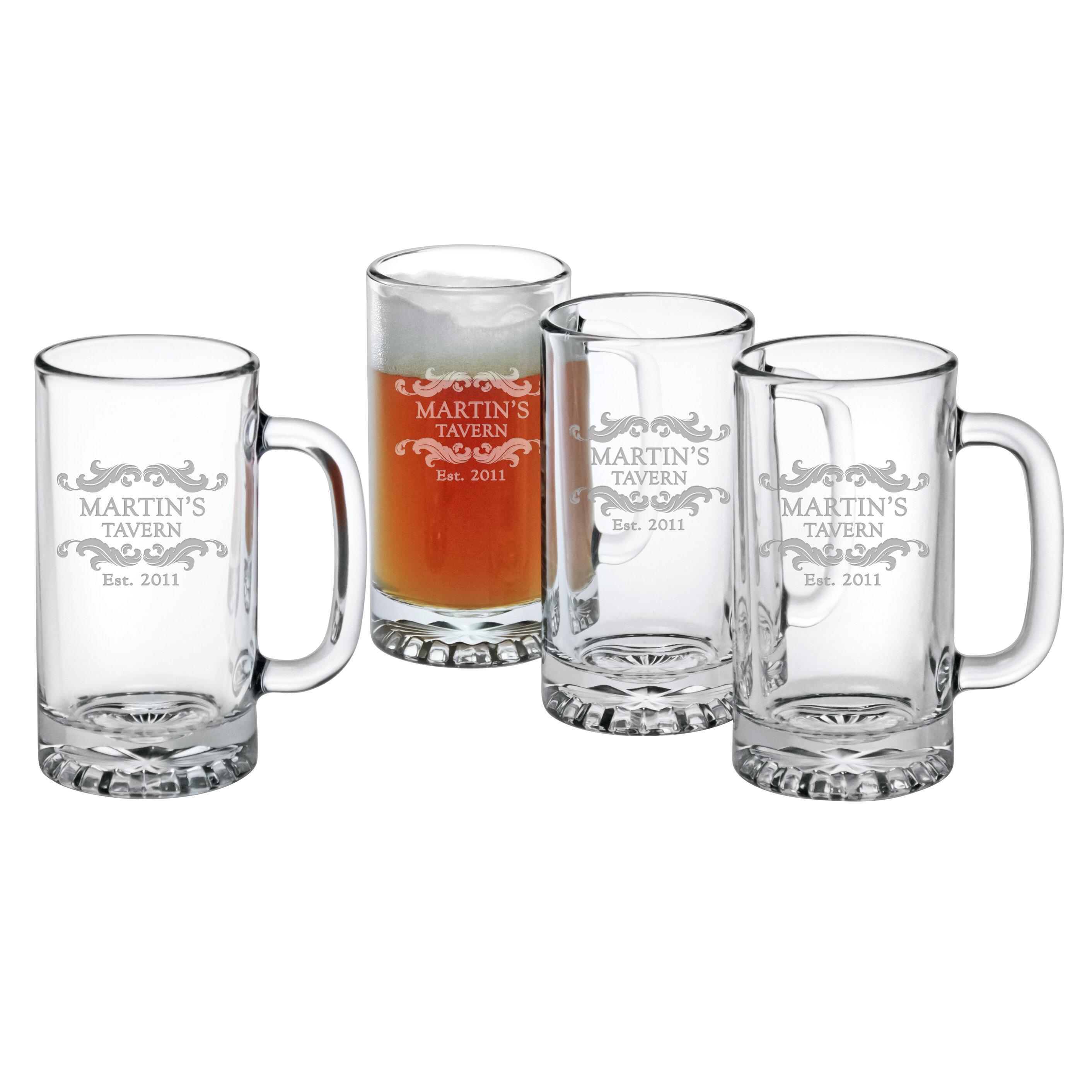 Susquehanna Glass Personalized Home Tavern Pub 16 Oz Glass Beer Mug Reviews Wayfair