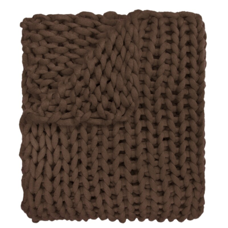 Charest Chunky Knitted Acrylic Throw