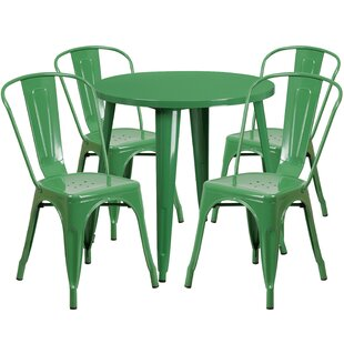 Chamblee Metal Indoor/Outdoor 5 Piece Dining Set