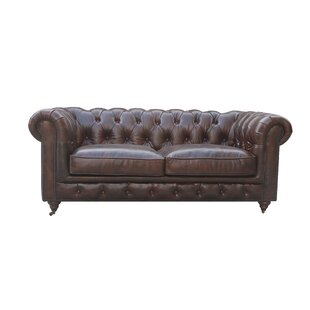 17 Stories Deshazo Leather Chesterfield Sofa