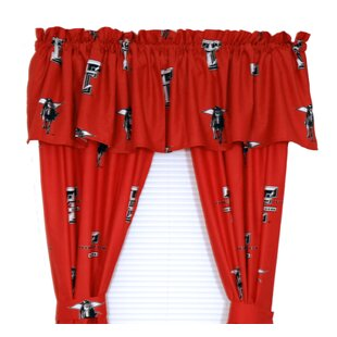 NCAA Texas Tech Printed Sports Rod Pocket Curtain Panels by College Covers