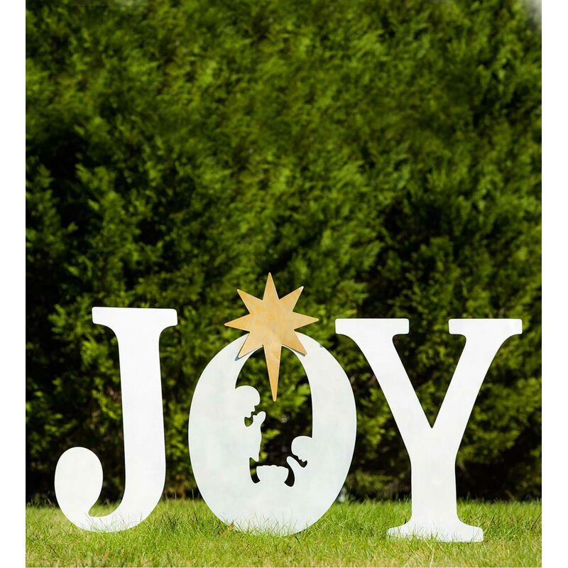 Plow & Hearth Christmas Joy Garden Sign | Wayfair