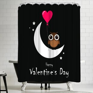 Wonderful Dream Owl Valentine Day Single Shower Curtain