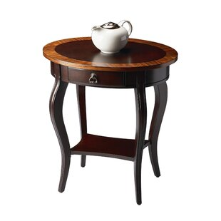 Gulielma 1 Drawer Oval End Table by Darby Home Co