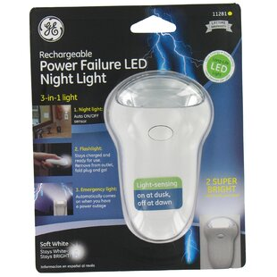 Affordable 3 in 1 Rechargeable Power Failure LED Night Light By Jasco