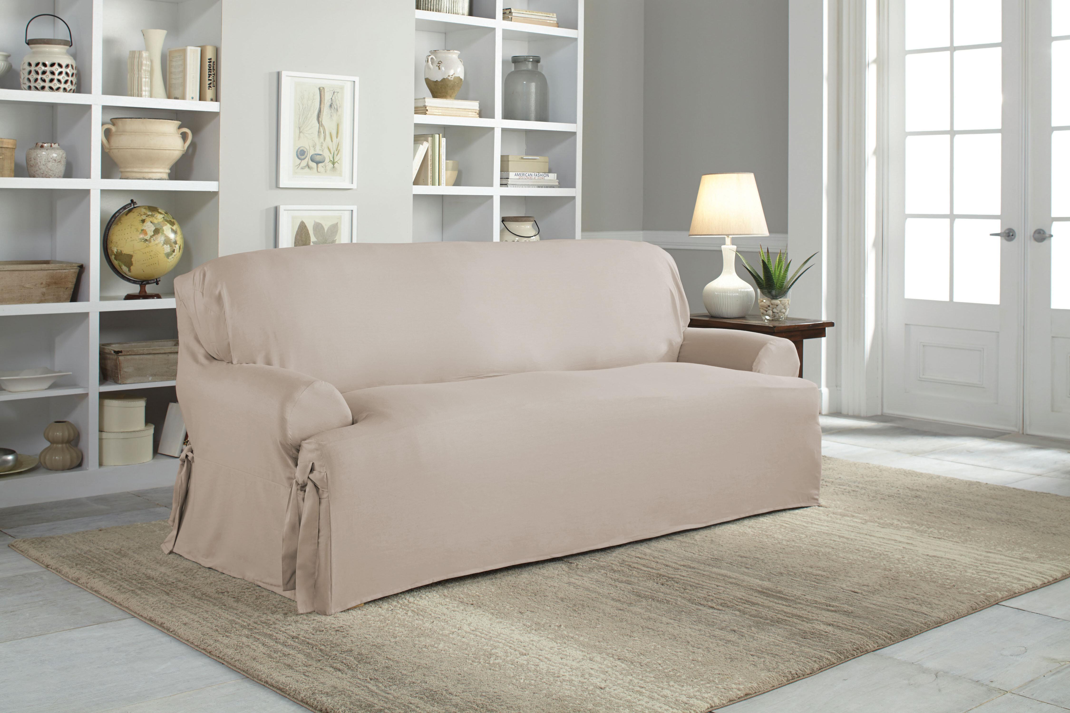 Incredible Cotton Duck T Cushion Sofa Slipcover Interior Design Ideas Grebswwsoteloinfo