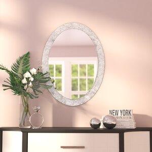Oval Crystal Wall Mirror