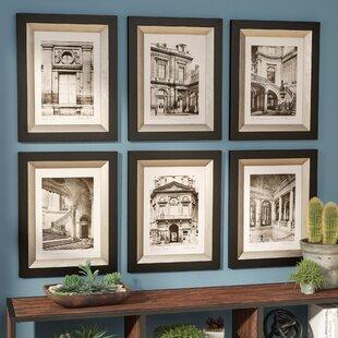 U0027Paris Scene I, II, III, IV, V, VIu0027 6 Piece Painting Print Shadow Box Set