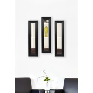 Latitude Run 3 Piece Scioli Panels Mirror Set (Set of 3)