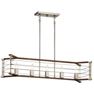 Breakwater Bay Eleanora Linear 5-Light Kitchen Island Pendant