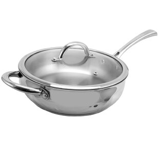 Lexie Stainless Steel Saute Pan with Lid
