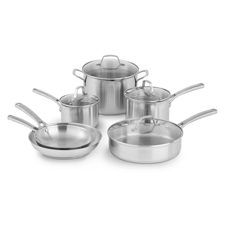 Calphalon Stainless Steel 10 Piece Non Stick Cookware Set