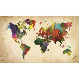Map of the world canvas wayfair world map in colours wall art gumiabroncs Images