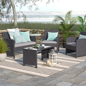 Rietta 4 Piece Deep Seating Group with Cushion