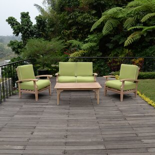 Cambridge Casual Maestro 4 Piece Teak Sofa Seating Group with Cushions