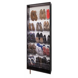 Man With An Umbrella 15 Pair Shoe Storage Cabinet By Rebrilliant