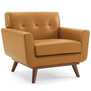 Saginaw Top-Grain Leather Armchair By Corrigan Studio