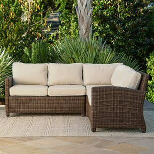 Beau Kiana Wicker Sectional With Cushions