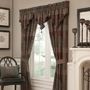 Galleria Pole Top Rod Pocket Curtain Panels Set Of 2