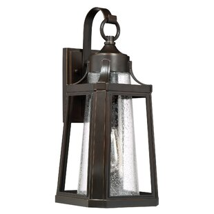 Nitish Bronze 1-Light Outdoor Wall Lantern by Gracie Oaks