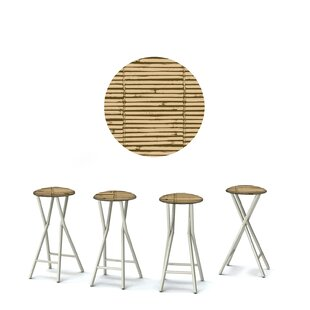 Luau 30'' Patio Bar Stool with Cushion (Set of 4)