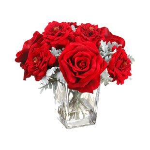 Holiday Rose Fl Arrangement In Vase