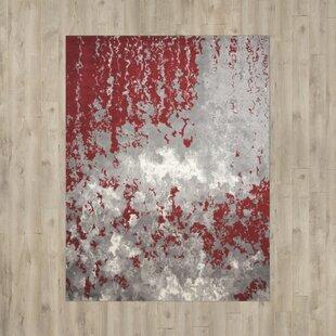 Clanton Gray/Red Area Rug ByEbern Designs