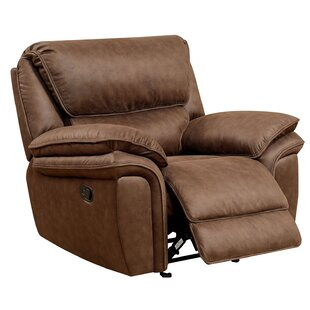 Millwood Pines Jaylin Leather Recliner