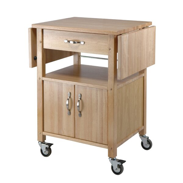 Red Barrel Studio Anthem Kitchen Cart With Wooden Top Reviews Wayfair