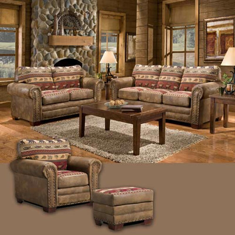 Living Room Sets American Furniture american furniture classics sierra lodge 4 piece living room set