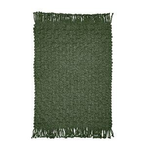 Dixson Ultra Durable Braided Dark Green Indoor/Outdoor Area Rug