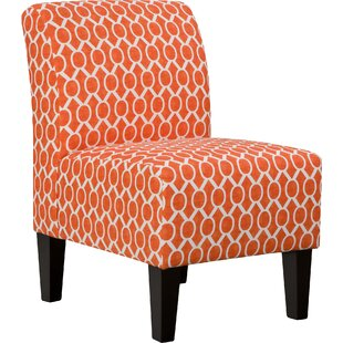 Biggins Side Chair in Orange by Simmons Upholstery by Ebern Designs