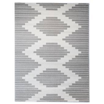 Balta Elle Geometric Gray Area Rug
