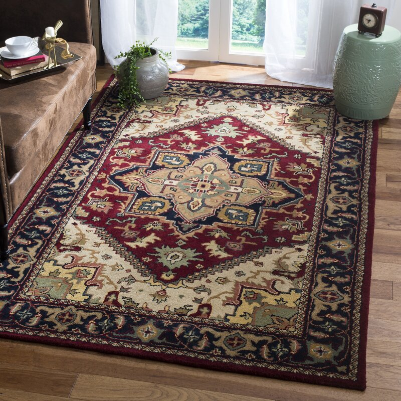 Balthrop Hand Tufted Wool Red Area Rug Reviews Birch Lane