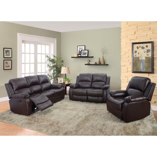Borger 3 Piece Reclining Living Room Set by