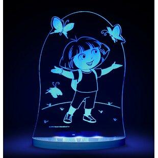 CompassCo Nickelodeon Dora the Explorer and Butterfly LED 3-Light Night Light