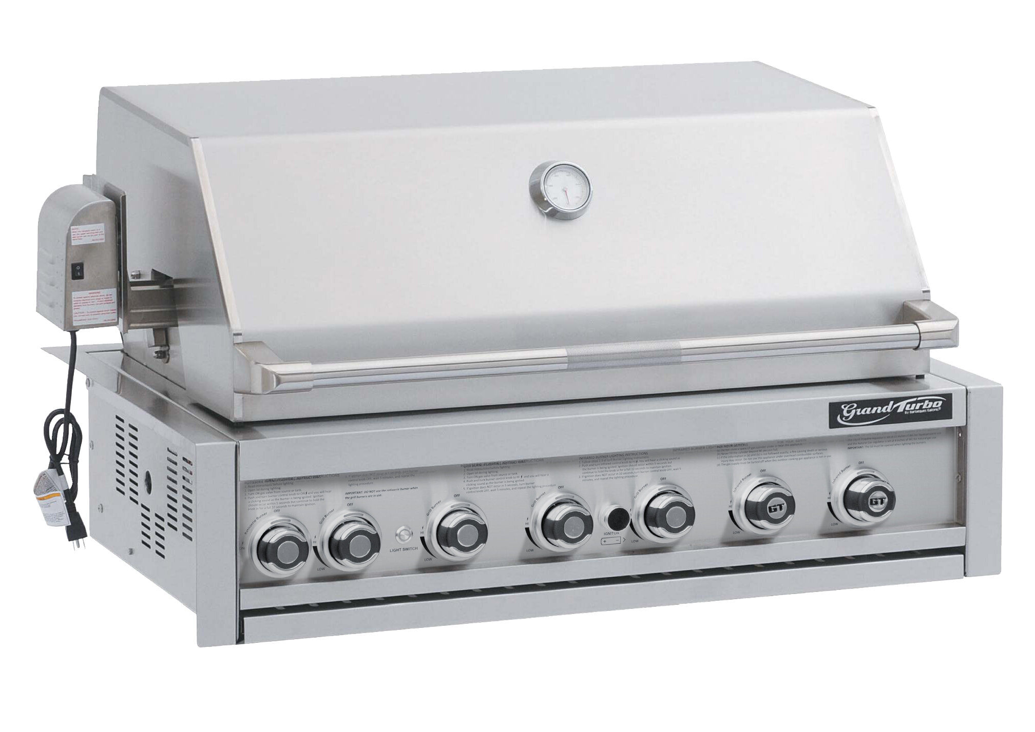 Barbeques Galore Grand Turbo 7 Burner Built In Natural Convertible Gas Grill Wayfair