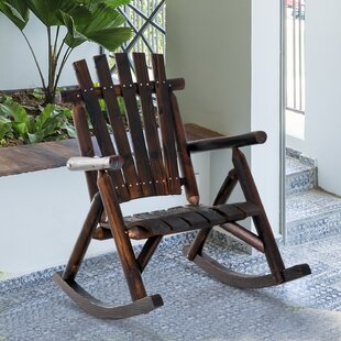 Hutchison Outdoor Solid Wood Rocking Adirondack Chair by Loon Peak