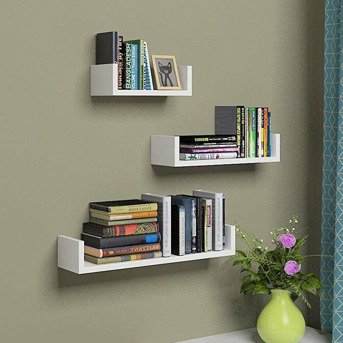 buy popular 97329 2d804 U Shaped 3 Piece Floating Shelf Set