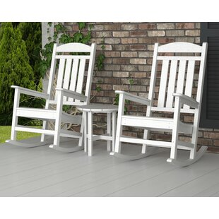 Presidential 3-Piece Rocking Chair Set by POLYWOOD® Cheap
