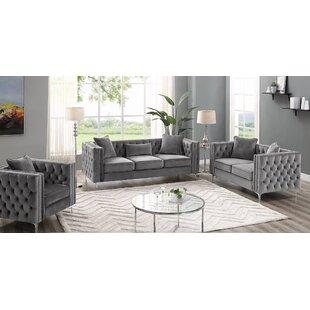 Niagara 3 Piece Living Room Set by Mercer41