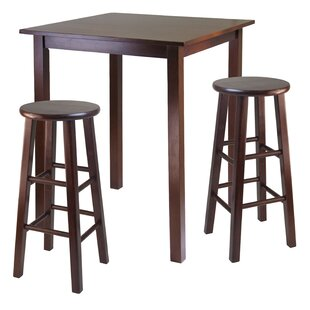 Auburn Road 3 Piece Counter Height Pub Table Set