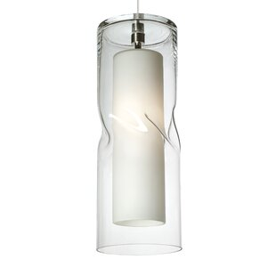 Mcculley 1-Light Cylinder Pendant by Latitude Run