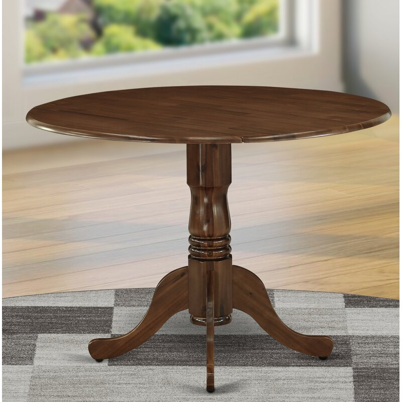 Winston Porter Silvas Drop Leaf Solid Wood Dining Table Reviews Wayfair