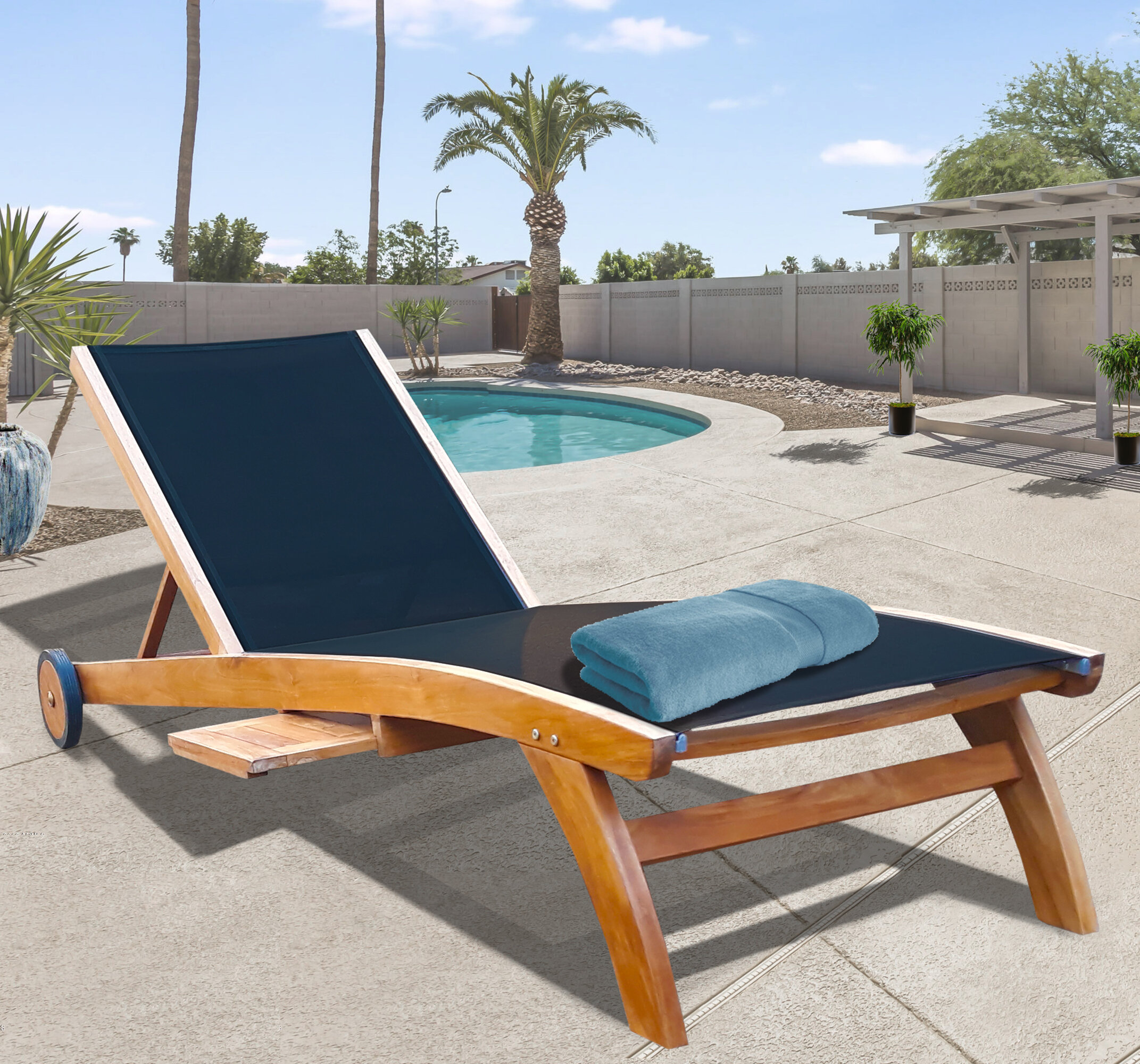 Chaise Lounge Set Teak Outdoor Chaise Lounge Chairs You Ll Love In 2021 Wayfair