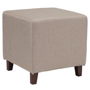 Tade Upholstered Cube Ottoman Ebern Designs
