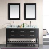 Carrasquillo 61 Double Bathroom Vanity Set with Mirror by Winston Porter