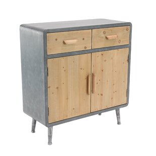 Tee Modern Rectangular 2 Door Accent Cabinet with 2 Top Drawers by 17 Stories